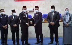 Penandatanganan Nota Kesepakatan Antara Bupati Lahat Dengan Ketua DPRD Lahat